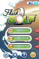 Screenshot of Flick Golf!