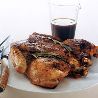 Chicken with Black-Pepper Maple Sauce.