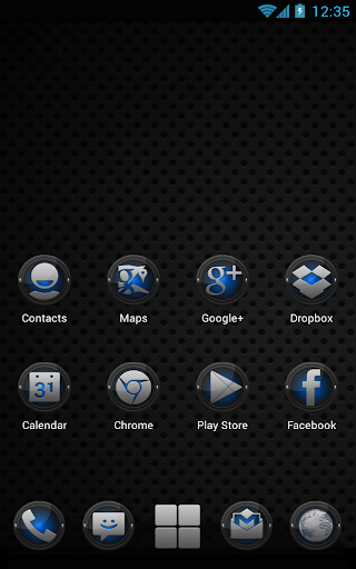 Next Launcher Black Blue Theme v1.2 apk