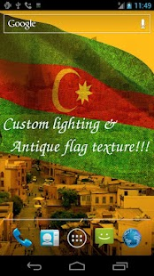 3D Azerbaijan Flag LWP - screenshot thumbnail