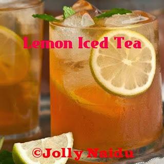 Homemade Lemon Iced Tea | Refreshing Drink.
