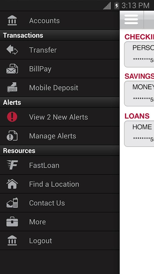 Bank of Texas Mobile - screenshot