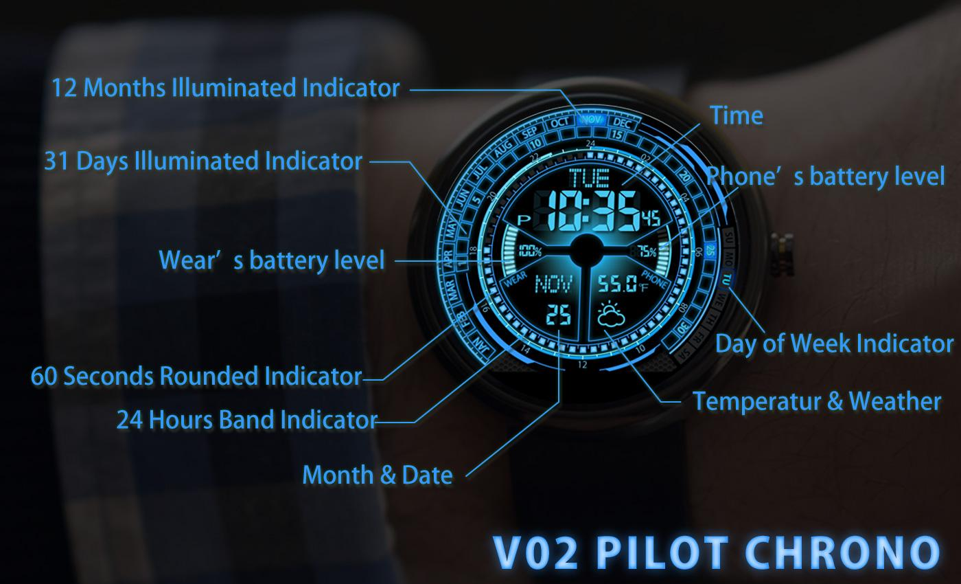 V02 WatchFace for Moto 360- screenshot