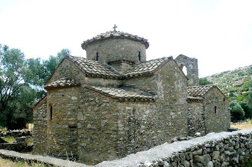 Agios-Georgios-Diasoreitis-Naxos-Greece - The Byzantine church of Agios Georgios Diasoritis, near the village of Chalki on the island of Naxos, Greece.