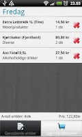 Screenshot of Handlelista Norge