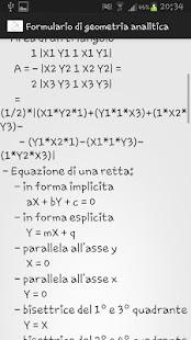 Formulario geometria analitica - screenshot thumbnail