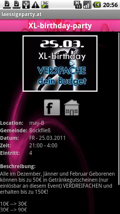 laessigeparty.at- screenshot