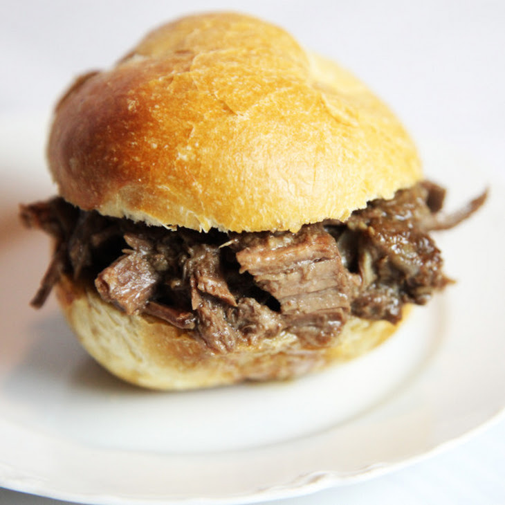 Mom's Crockpot French Dip Sandwiches