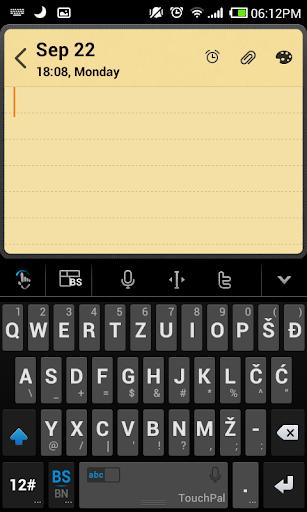 Bosnianlatin TouchPal Keyboard