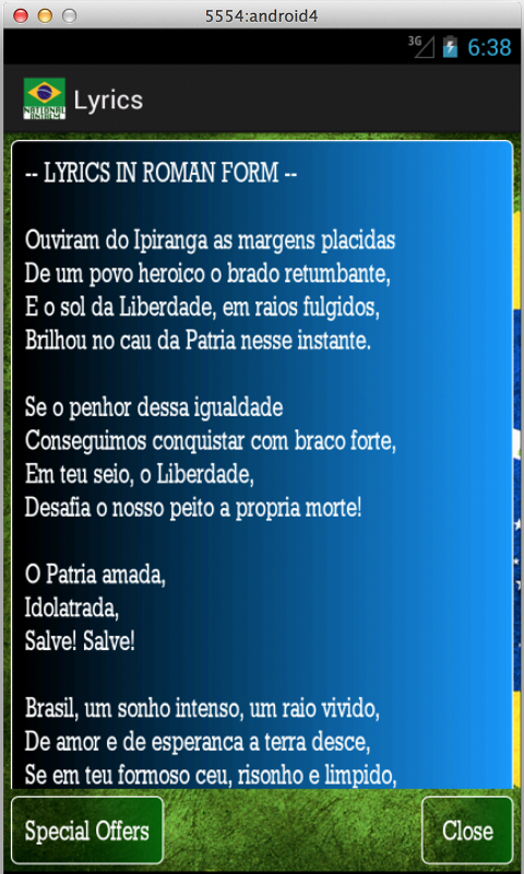 Brazilian National Anthem- screenshot