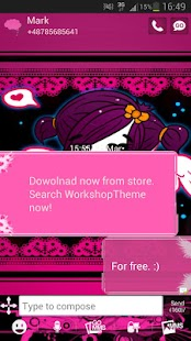 GO SMS Pro Theme Emo Pink - screenshot thumbnail