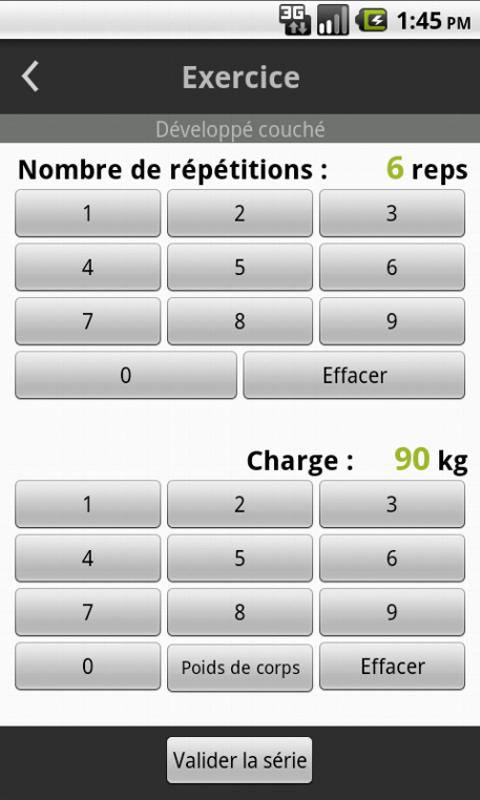 Carnet de Musculation - screenshot