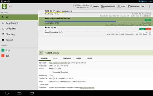 tTorrent Pro - Torrent Client v1.5.2.1 Android Ücretsiz Apk Full İndir