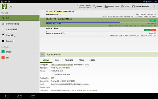 tTorrent Lite - Torrent Client screenshot