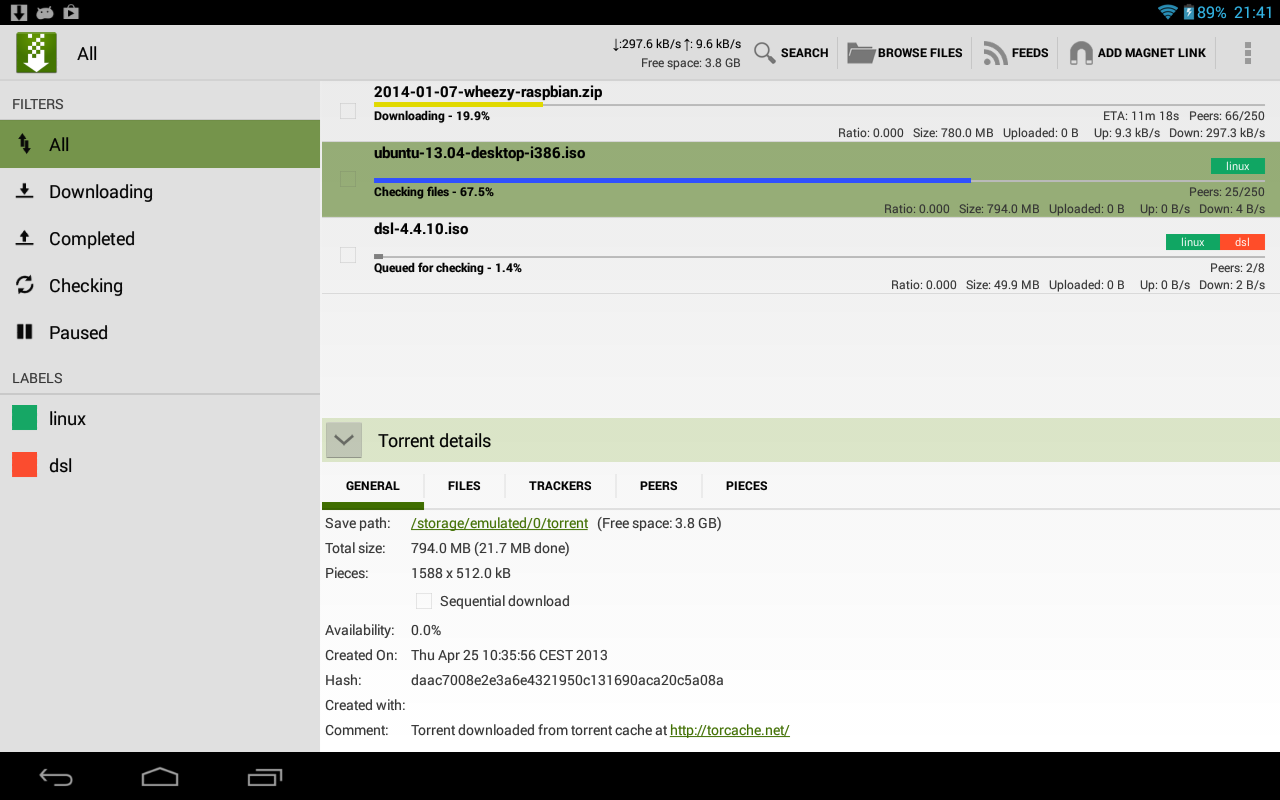 tTorrent Pro - Torrent Client - screenshot
