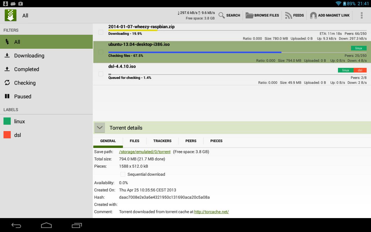 tTorrent Pro - Torrent Client - screenshot