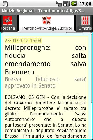 Notizie Regionali - screenshot