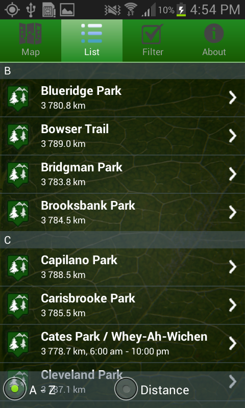 DNV Parks- screenshot