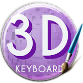Purple 3D Keyboard
