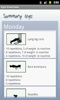 Screenshot of Gym Exercises