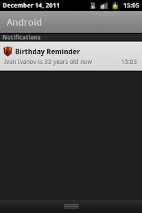 Birthday Reminder - screenshot thumbnail