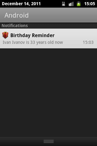 Birthday Reminder - screenshot