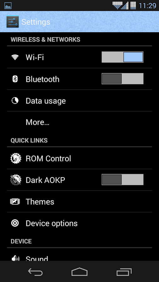 CM AOKP Theme SLATE - screenshot