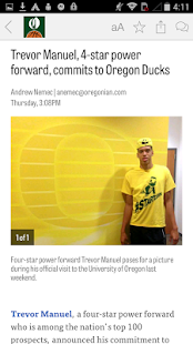 OregonLive: Ducks Hoops News- screenshot thumbnail