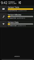 Screenshot of Data Plan Usage Widgets