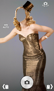Girl fancy dress photo montage screenshot