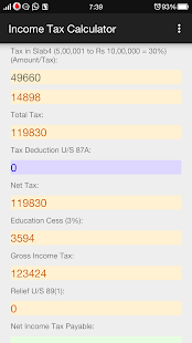 Income Tax Calculator- screenshot thumbnail