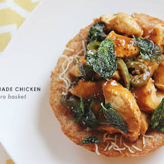 Savory Jade Chicken in Taro Basket #SundaySupper #McSkilletSauce.
