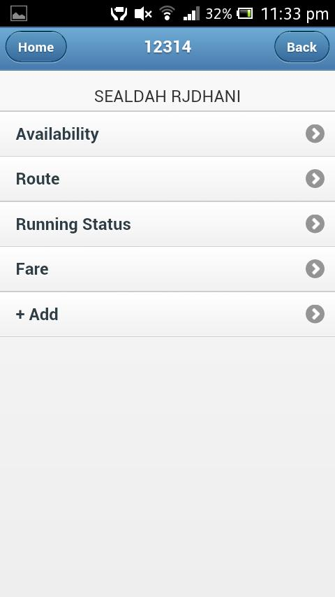 eRail.in Indian Rail / Train - screenshot