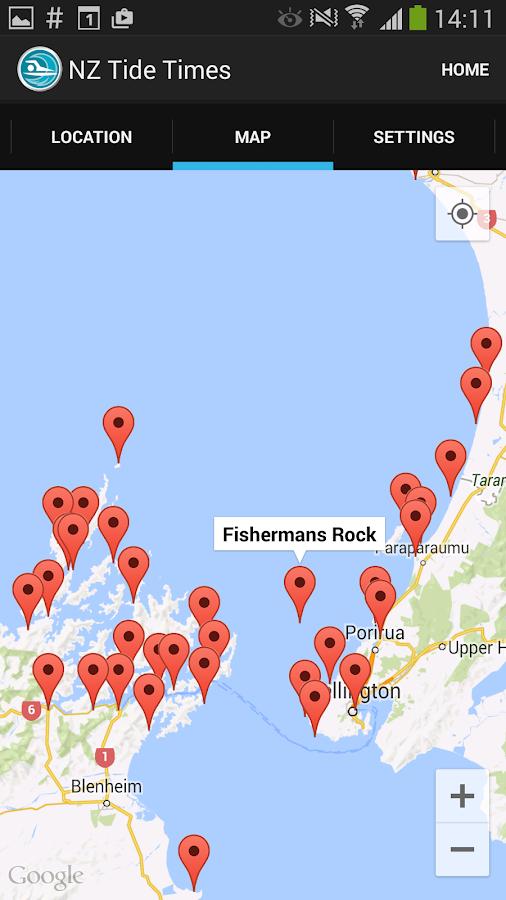 New Zealand Tide Times - screenshot