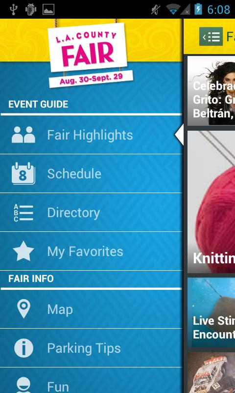 L.A. County Fair Mobile App - screenshot