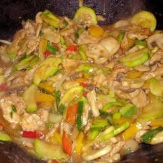 Authentic Thai Cashew Chicken.
