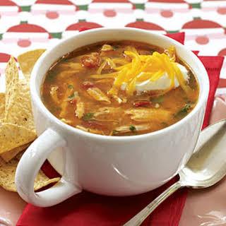 Chicken-corn Tortilla Soup.