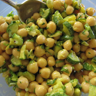 Curried Zucchini, Chickpea and Green Apple Salad.