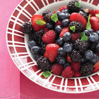 Mixed Berry Salad with Mint.