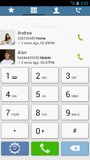 Swipe Dialer GS4 Light Theme