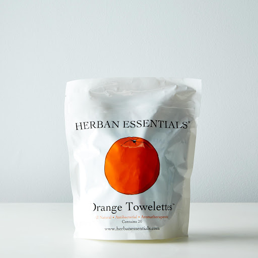 All-Natural Travel Towelettes, Orange (Pack of 20)
