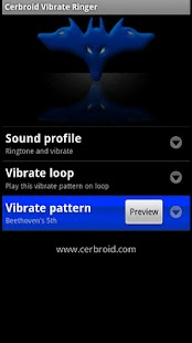 Cerbroid Vibrate Ringer - screenshot thumbnail