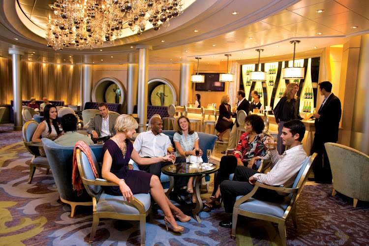 Vintages is one of the lounges on the Oasis of the Seas, offering an extensive selection of popular sips from regions worldwide.