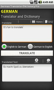 German Translator/Dictionary - screenshot thumbnail