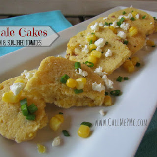 Tamale Cakes with Corn and Sun-dried Tomatoes / Call Me PMc