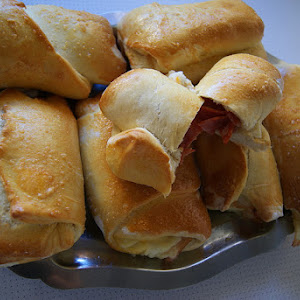 Ham and Cheese, and Sausage Bread Rolls