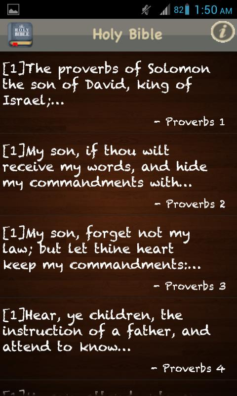 Screenshots of King James Bible (KJV) FREE! for iPhone