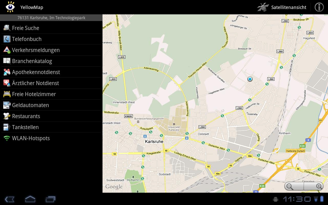 YellowMap - screenshot