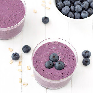 Oatmeal Blueberry Smoothie.