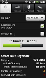 Bußgeldrechner- screenshot thumbnail